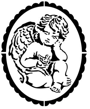 Pochoir Adhésif Home Déco 17 x 14 cm CAMEE ANGELOT: