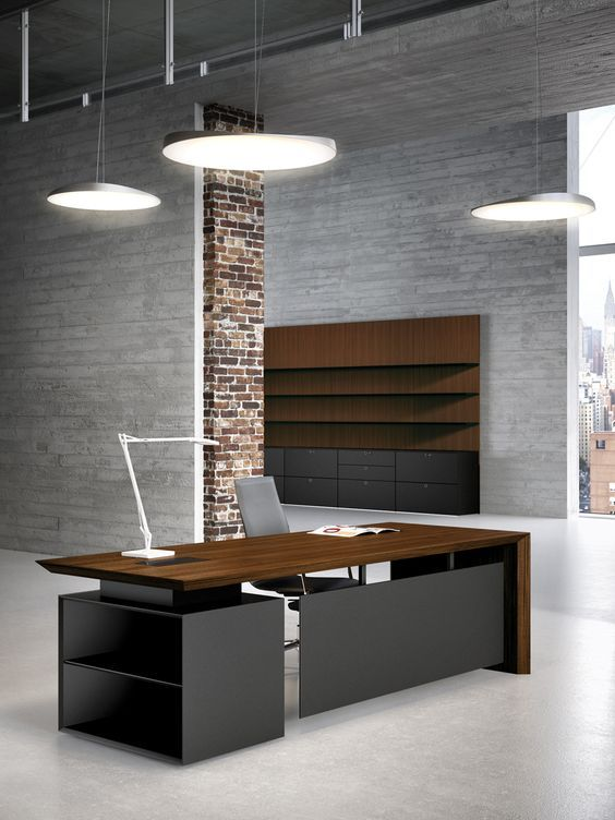 Office Desk Design multipli ceo walnut and black executive office desks.: | home