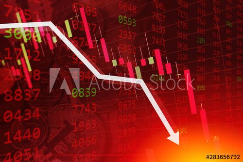 Economic Crisis Stock Chart Falling Down Business Global Money Bankruptcy Concept In 2020 Stock Market Crash Stock Market Stock Charts