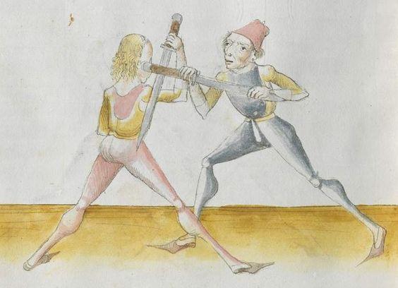 Lecküchner, Hans: Kunst des Messerfechtens Nordbayern, 1482 Cgm 582 Folio 390