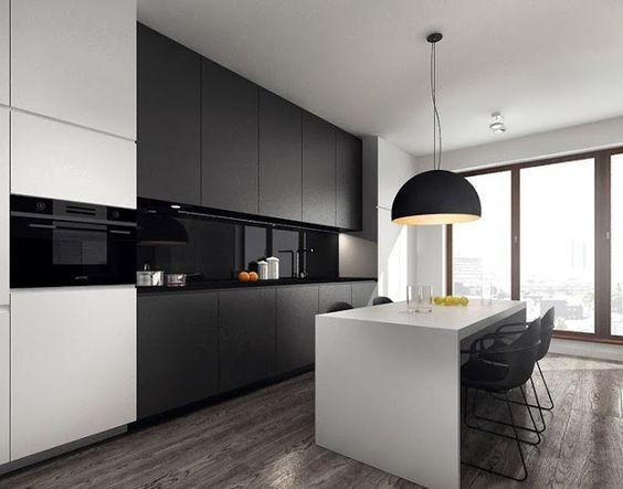Ideas de mesas y barras para comer en la cocina cocinas - Cocinas en blanco y negro ...