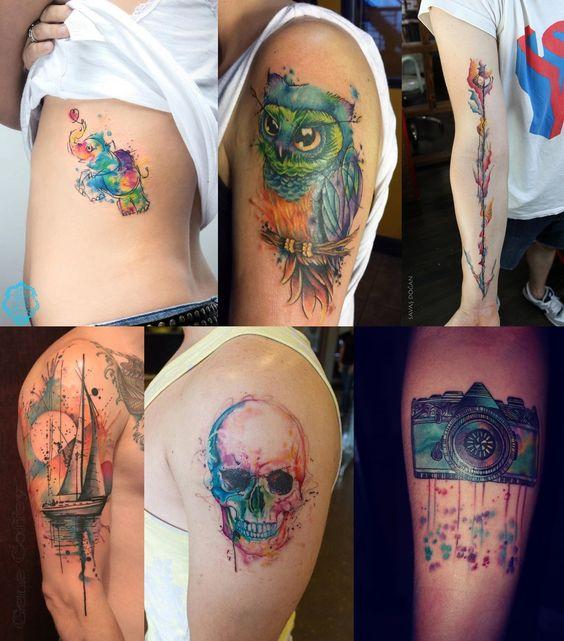 Watercolor Tattoo, tatuagem aquarela, fotos de tatuagens, tatuagens 2015, tatuagens masculinas, blog de moda, moda masculina, estilo masculino, menswear, menstyle, fashion blogger, blogger, alex cursino, moda sem censura, 4