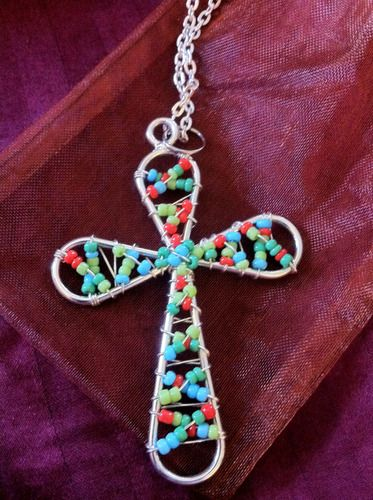 wire wrapped cross!