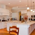 White kitchen with Calacatta Danby marble countertops from English Heritage Homes in Texas