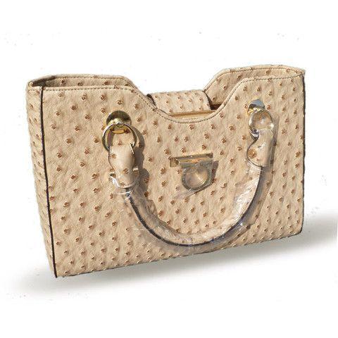 Solid Soft Genuine Leather Handbags with Exterior Silt Pocket | Stylish Beth
