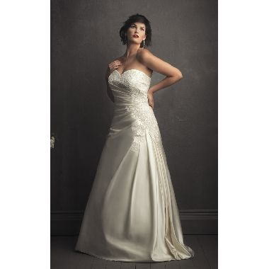 [ $140.99 ]Elegant Soft-ruched Sweetheart Laced Satin-Back Taffeta Wedding Ball Gown