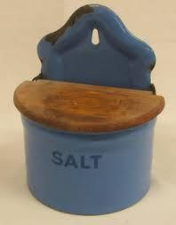 enamelware salt box