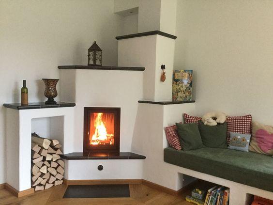 Kachelofen mit Naturstein-Abschluss #Kachelofen #Grundofen - designer arbeitstisch tolle idee platz sparen