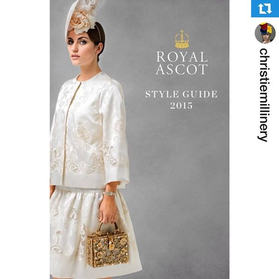 #Repost @christiemillinery・・・@ascotinsider Style Guide ~ https://www.ascot.co.uk/royal-ascot-style-guide-2015 | A must read for all those attending Royal Ascot this Summer #royalascot #millinery #fotf #fashion #racingfashion #style #styleguide #trending #love #want #christiemillinery