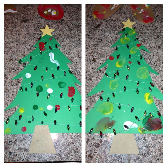 Oh Christmas tree oh Christmas tree! Fingerprint ornaments :)