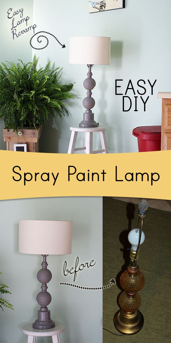 Spray paint lamps paint lamps and lamp makeover on pinterest for Spray paint makeovers