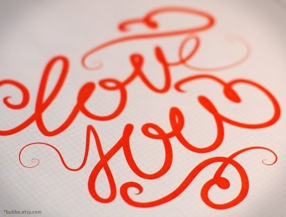 Love you calligraphy