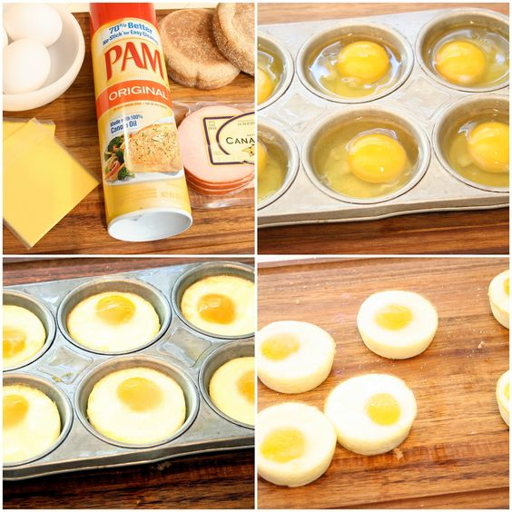 Freezable Breakfast Sandwiches 1 Spray Your Muffin Tin