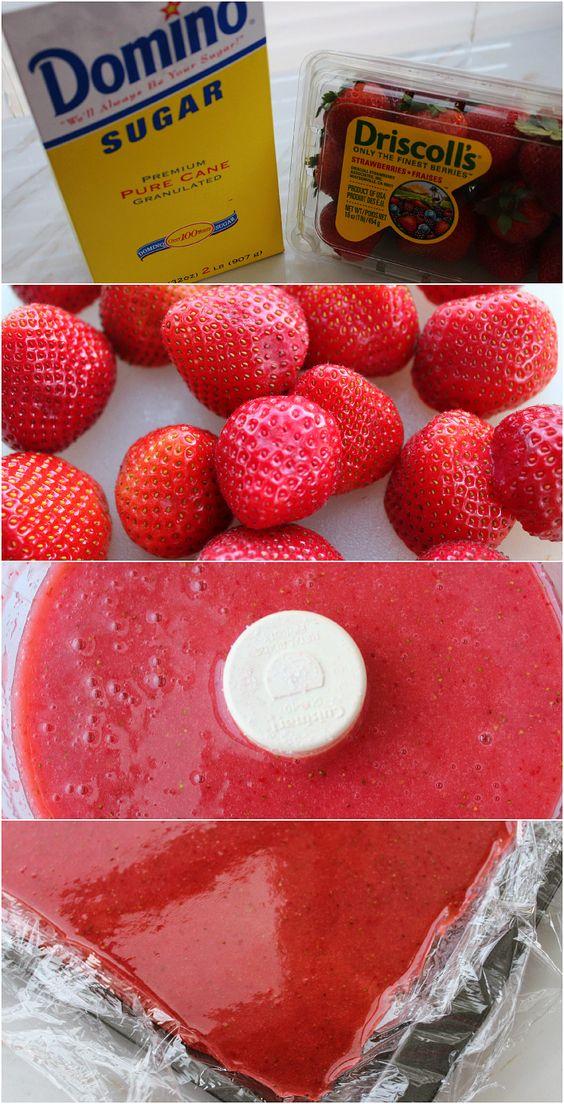 Homemade Fruit Roll Ups | Recipe | Fresh, Homemade and Strawberry ...