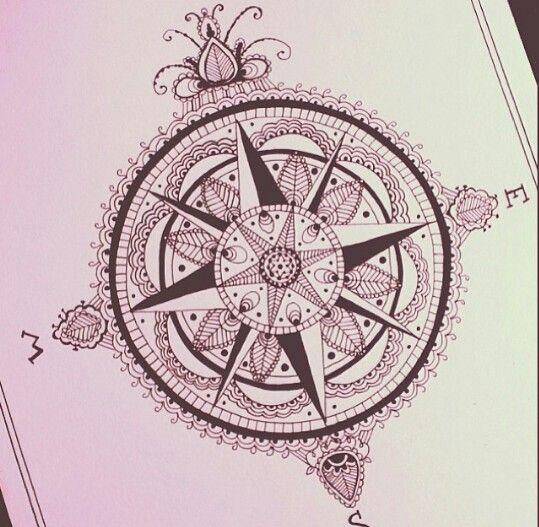Compass tattoo mandala compass tattoo and mandalas on pinterest