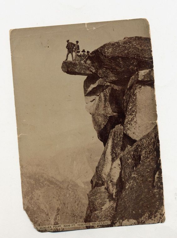 Antique Photograph Glacier Point in Yosemite National Park | eBay