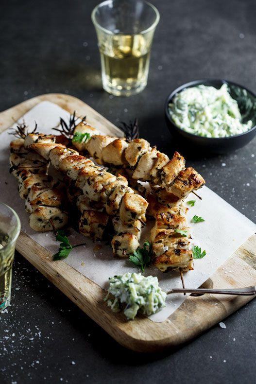 Chicken souvlaki with zucchini tzatziki   simply-delicious.co.za #recipe #dinner #lowcarb