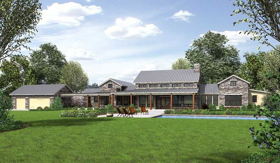 Plan 46041hc hill country home with massive porch house for Hill country house plans with wrap around porch