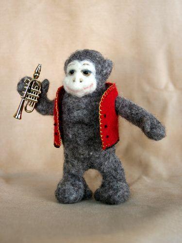 Toy circus monkey