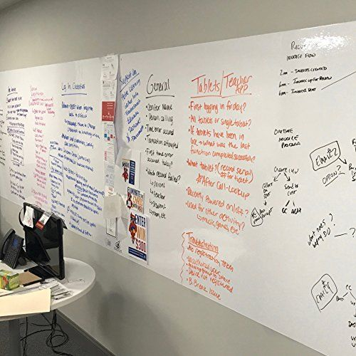 Think Board Premium Whiteboard Film This Is A Peel And Stick Dry Erase Board This Board Will Allow You Dry Erase Board Wall Whiteboard Wall Dry Erase Wall