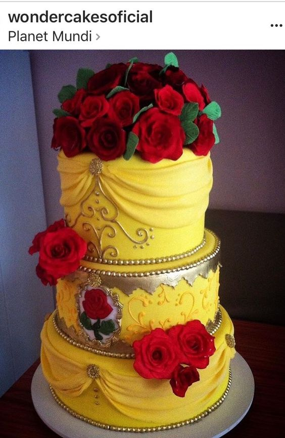Beauty and The Beast inspired cake: