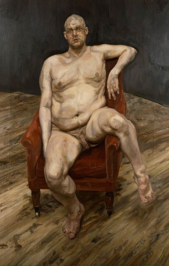 Image result for the sitting painting of Leigh Bowery by Lucian freud