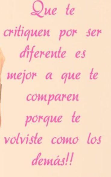 Mejor ser diferente