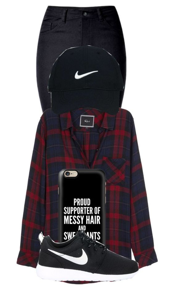 """""""On the streets of ____ (FILL IN THE BLANK IN COMMENTS)"""" by sydypop on Polyvore featuring WithChic, Rails, Casetify, NIKE and Nike Golf"""