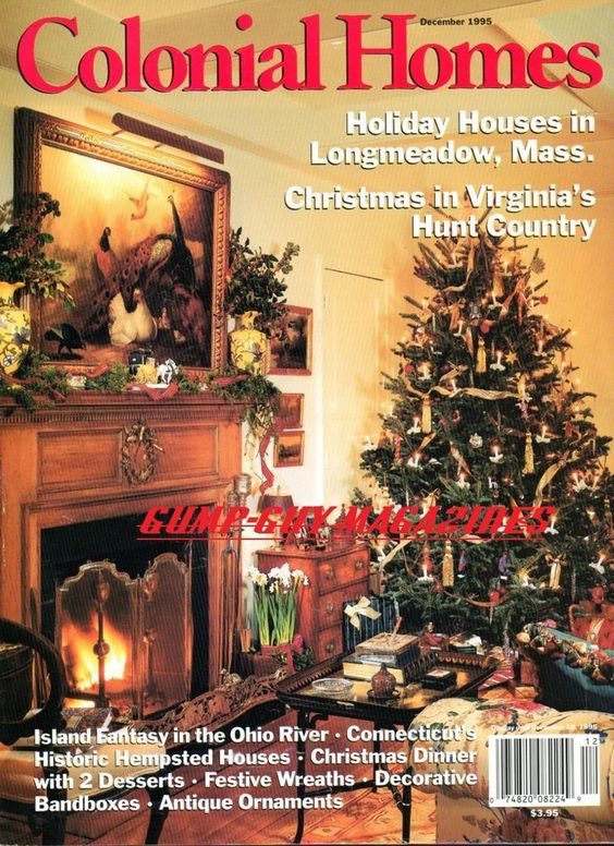 Colonial Homes 1995 VIRGINIA CHRISTMAS Antique Ornament HISTORIC HEMPSTEAD HOUSE