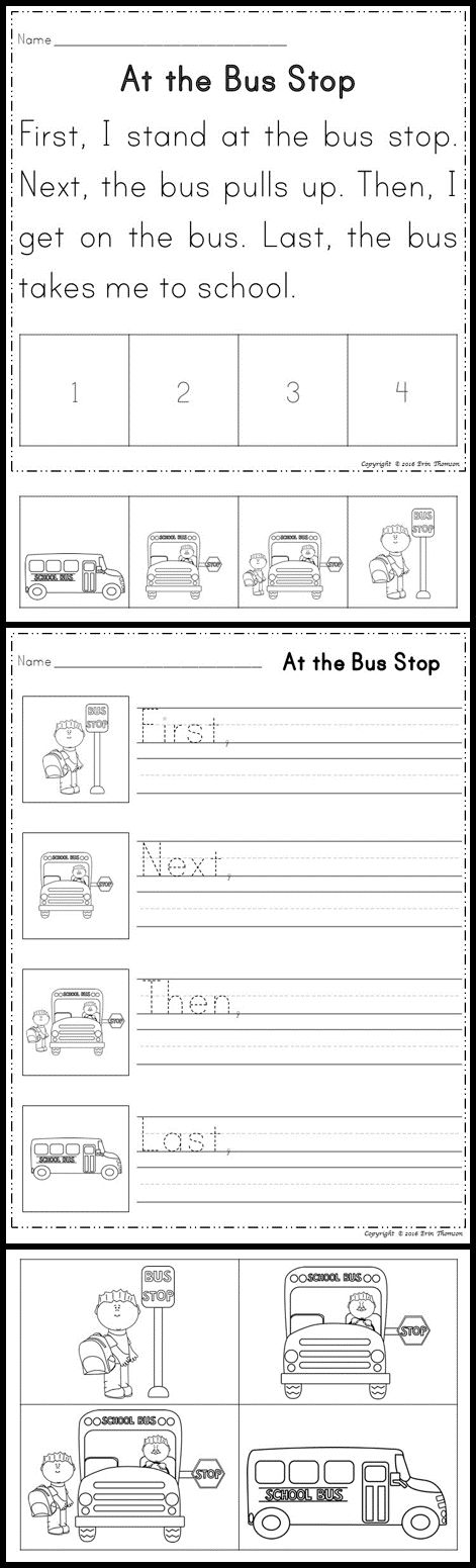 Bus stop, The bus and Buses on PinterestSequencing Stories ~ First, Next, Then, Last. Read and sequence the Bus