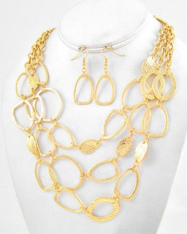 Chain-to-Leaf Necklace and Earrings - Krimson and Klover a Women's Clothing Boutique