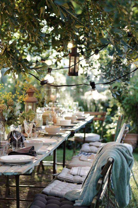 Terrasse guinguette : déco festive pour l'été - Côté Maison