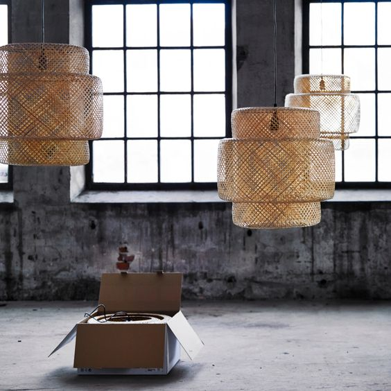 Sinnerlig vintage retro look and products - Ikea lampe suspension ...