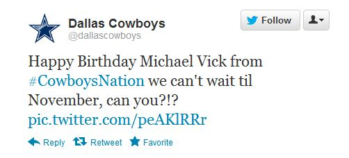 Too Funny. I loathe Michael Vick.