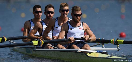 U.S. Men's Four Rowing Team - (L-R) Robin Prendes, Anthony Fahden, Edward King…