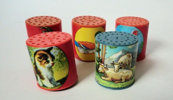 When tilted, each one made a sound similar to the animal illustrated on it. I loved these!