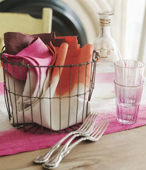 dip dyed napkins of love!!