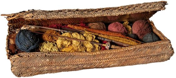 Chancay weaver's basket from Peru, 1100 - 1450 AD.