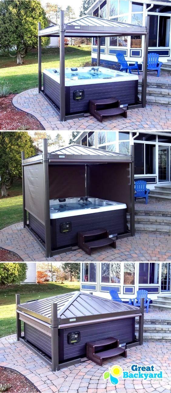 Ideen Fur Den Garten Whirlpool Hinterhof Whirlpool Terrasse Whirlpool Pavillon
