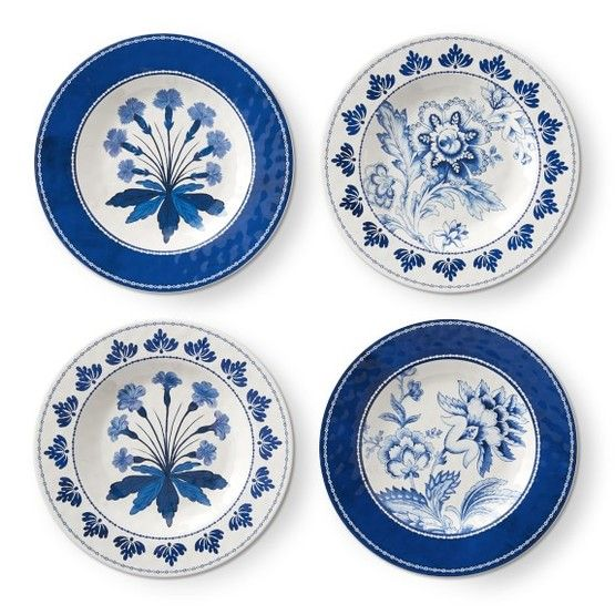 Pink White And Blue With Shelley Johnstone The Glam Pad Plates Melamine Dishes Plates On Wall Blue and white salad plates