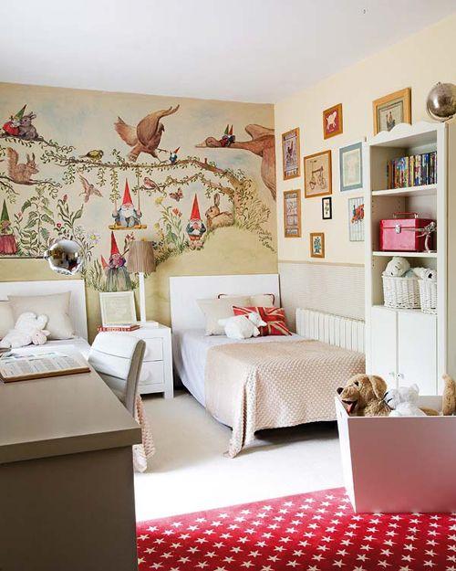 Kinderzimmer zwei Mädchen Geschwister platzsparende Gestaltung