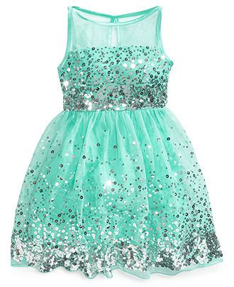 Crystal Doll Sequin Illusion Dress Big Girls (7-16)  Pinterest ...