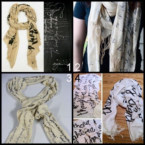 Hand Written Poem Scarf TUTORIAL