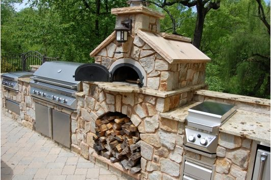 Gardens dads and home on pinterest - Outdoor kitchen pizza oven design ...