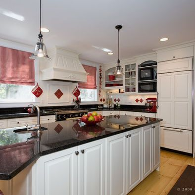 Kitchen Red Accent Design, Pictures, Remodel, Decor and Ideas