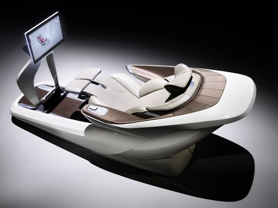 The definition of luxury, Faurecia's Oasis seat offers separate positions for working, entertainment and relaxation, with surround-sound speakers, HMI touch and gesture controls, and 20 massage cells.: