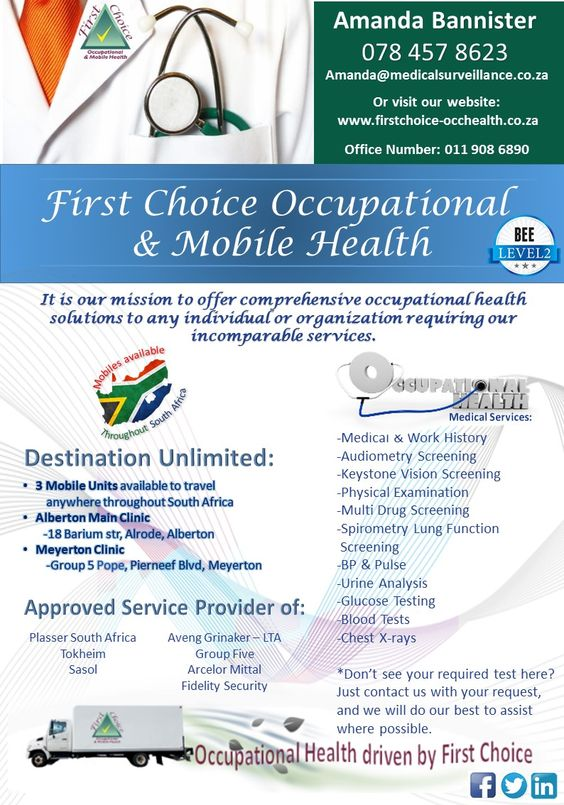 Company information of First Choice Occupational & Mobile Health