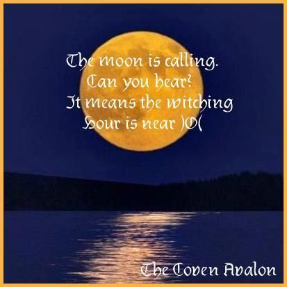 The Moon is calling...