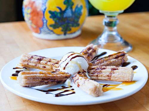 Churros - cool off from the beach with some sweet churros and ice cream! #auntchiladashhi
