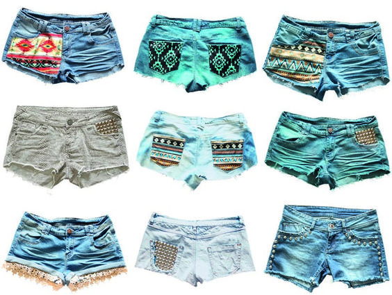 Homemade Jean Shorts  Thinking of a daughter I have that would like these...